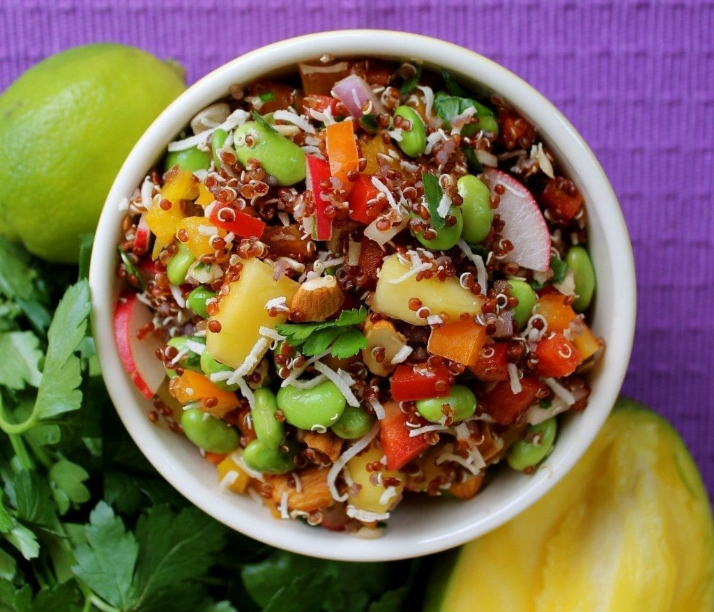 quinoa salad, lime, healthy, nutrition